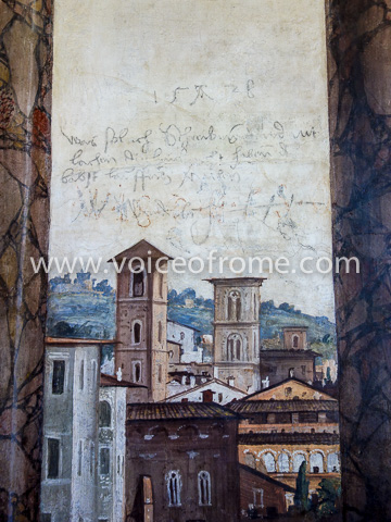 Villa Farnesina - graffiti